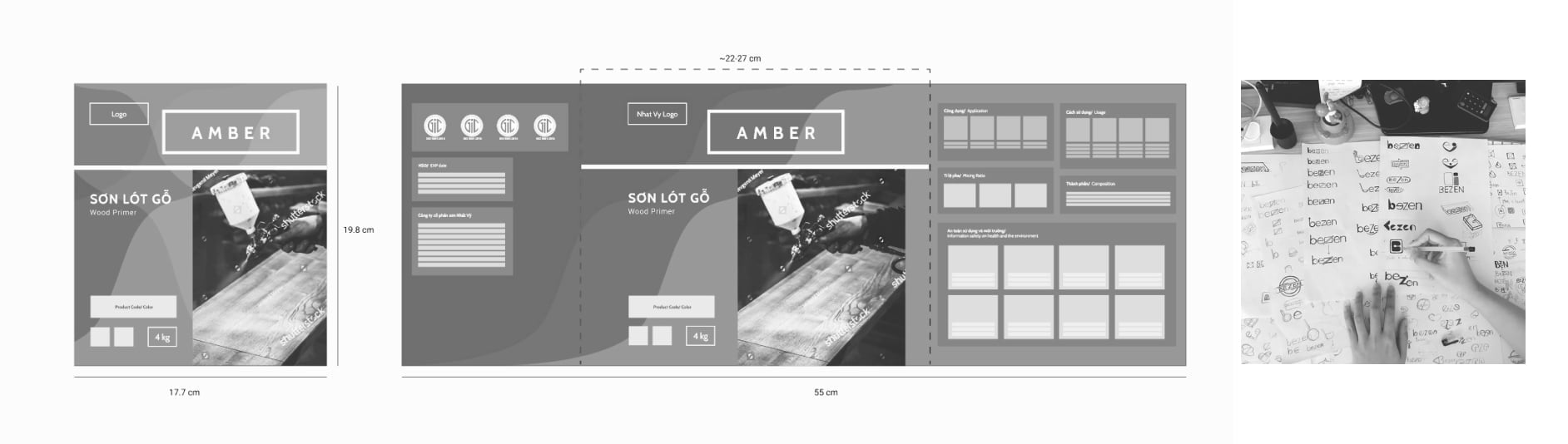 Layout Wireframe Sketches